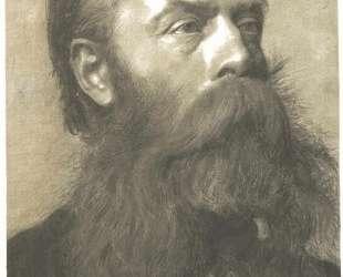 Portrait of a man with beard in three quarter profil — Густав Климт