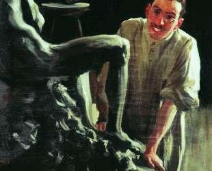 Портрет скульптора и живописца Д. С.Стеллецкого — Борис Кустодиев