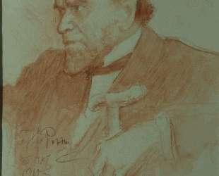 Portrait of Academician A. F. Koni — Илья Репин