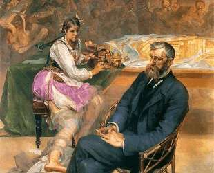 Portrait of Adam Asnyk with a Muse — Яцек Мальчевский