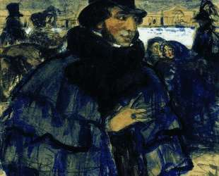 А. С.Пушкин на набережной Невы — Борис Кустодиев