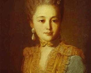 Portrait of an Unknown Woman in a Blue Dress with Yellow Trimmings — Фёдор Рокотов