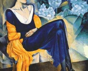 Портрет поэтессы А. А. Ахматовой — Натан Альтман