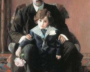 Портрет А. Ф. Азибера с сыном — Павел Филонов