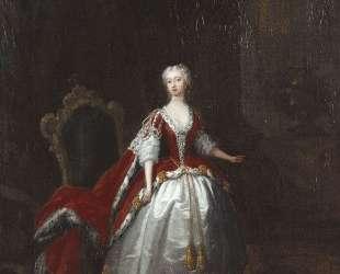 Portrait of Augusta of Saxe Gotha — Уильям Хогарт