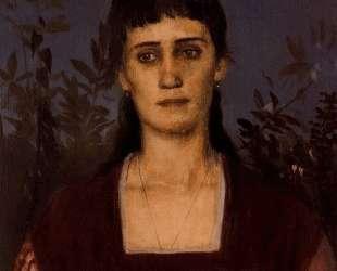 Portrait of Clara Bruckmann-Bocklin — Арнольд Бёклин