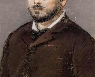 Portrait of composer Emmanual Chabrier — Эдуард Мане
