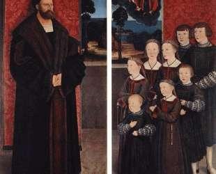 Portrait of Conrad Rehlinger and his Children — Бернхард Штригель