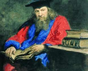 Портрет Д. И.Менделеева в мантии профессора — Илья Репин