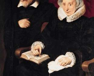 Portrait of Elisabeth Mertens and her Late Husband — Корнелис де Вос