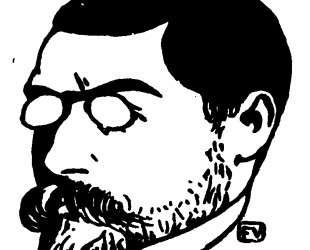Portrait of French writer Louis Dumur — Феликс Валлотон
