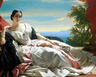 Portrait of Leonilla, Princess of Sayn Wittgenstein — Франц Ксавер Винтерхальтер