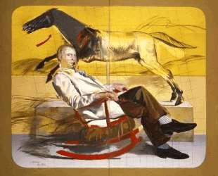 Portrait of man sitting — Димитрис Митарас