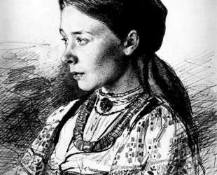 Portrait of Maria Artsybasheva — Илья Репин