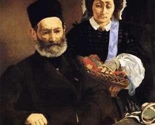 Portrait of Monsieur and Madame Auguste Manet — Эдуард Мане