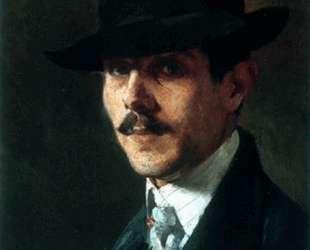 Portrait of painter Oumvertos Argyros — Николаос Литрас