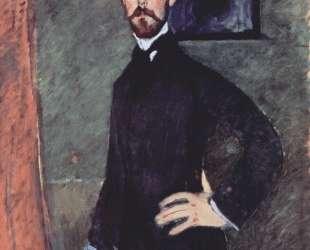 Портрет Поля Александера на зеленом фоне — Амедео Модильяни