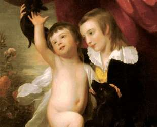 Portrait Of Raphael West And Benjamin West Jr. — Бенджамин Уэст