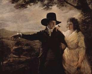Portrait of Sir John and Lady Clerk of Penicuik — Генри Реборн