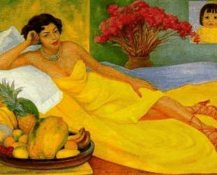 Portrait of Sra. Dona Elena Flores de Carrillo — Диего Ривера