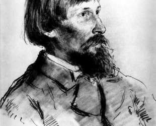Portrait of the Artist Viktor Vasnetsov — Илья Репин