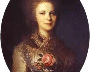 Portrait of V. N.Surovtseva — Фёдор Рокотов