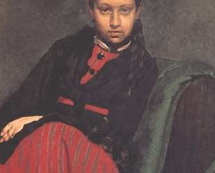 Портрет В. А.Шевцовой, впоследствии жены художника — Илья Репин
