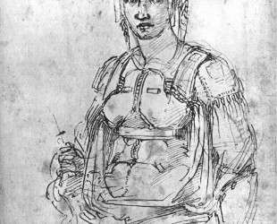 Portrait of Vittoria Colonna — Микеланджело