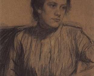 Портрет Ю. Е.Прошинской — Борис Кустодиев