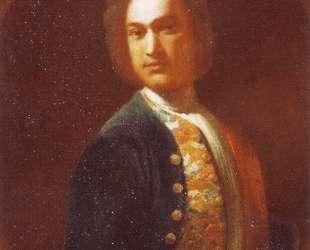 Portrait of young man in a green coat — Иван Никитин