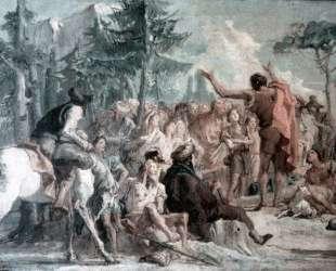 Preaching of John the Baptist — Джованни Доменико Тьеполо