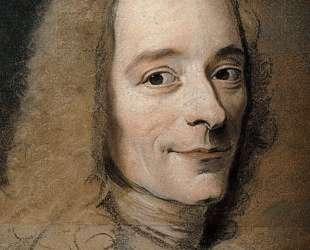 Preparation to the portrait of Voltaire — Морис Кантен де Латур
