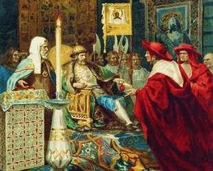 Prince Alexander Nevsky Receiving Papal Legates — Генрих Семирадский