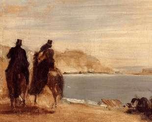 Прогулка у моря — Эдгар Дега