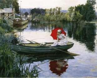 Quiet Day on the Seine — Юлиус Леблан Стюарт