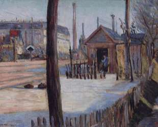 Railway junction near Bois Colombes — Поль Синьяк