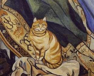 Raminou sitting on a cloth — Сюзанна Валадон