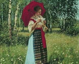 За чтением письма — Николай Богданов-Бельский