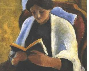 Reading woman — Август Маке
