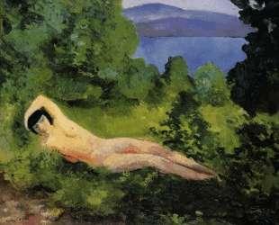 Лежащая обнаженная в листьях — Моис Кислинг