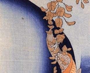 Red Carp under wisteria — Утагава Куниёси