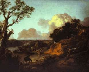 River Landscape with Rustic Lovers — Томас Гейнсборо