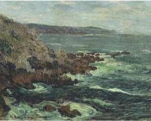 Rock Cliffs by the Sea in Britain — Гюстав Луазо