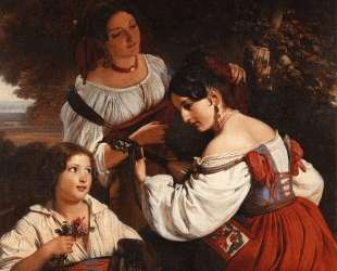 Roman Genre Scene — Франц Ксавер Винтерхальтер