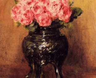 Roses in a China Vase — Пьер Огюст Ренуар