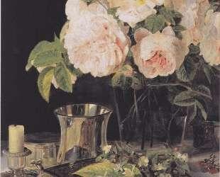 Roses in glass — Фердинанд Георг Вальдмюллер