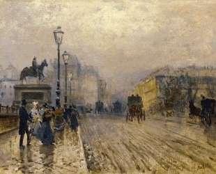 Rue de Paris with Carriages — Джузеппе Де Ниттис