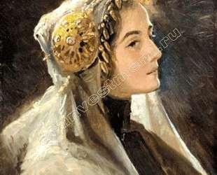 Русская красавица в традиционном головном уборе — Сергей Соломко