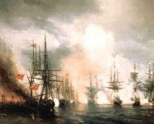 Русско-турецкий морской бой при Синопе 18 ноября 1853 года — Иван Айвазовский