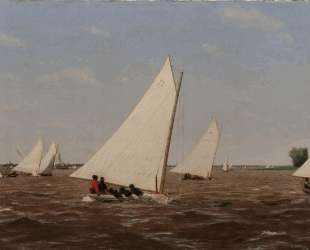 Sailboats Racing on the Delaware — Томас Икинс